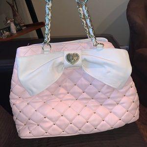 Betsey Johnson pastel pink XL bag